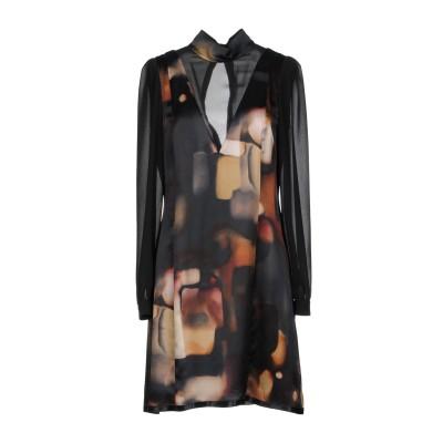 マニラ グレース MANILA GRACE ミニワンピース&ドレス ブラック 38 70% レーヨン 30% シルク ミニワンピース&ドレス