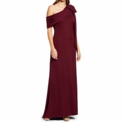 タダシショージ TADASHI SHOJI レディース パーティードレス ワンショルダー ワンピース・ドレス One-Shoulder Crepe Column Gown Auburn