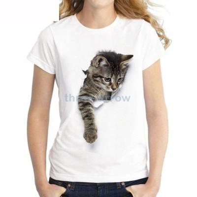 【送料】トップス レディース メンズ Tシャツ ティーシャツ 半袖 アニマル 猫 動物 グラフィック キャット アート アメリカンショートヘア 子