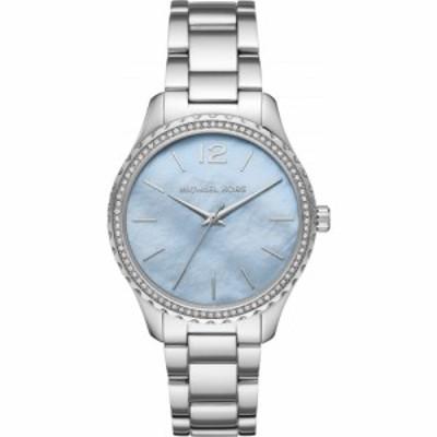 マイケル コース MICHAEL KORS レディース 腕時計 Layton Bracelet Watch. 38mm Silver/Blue Mop/Silver