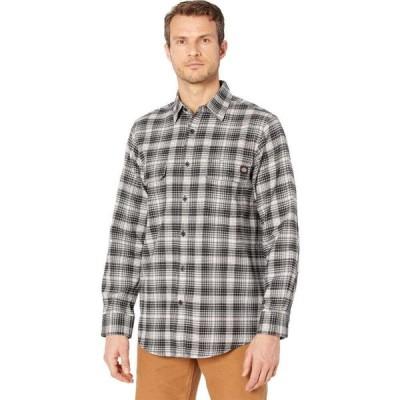 ディッキーズ Dickies メンズ シャツ ネルシャツ トップス Flex Flannel Long Sleeve Shirt Regular Cream/Smoke Plaid