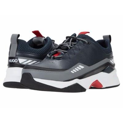 ヒューゴボス スニーカー シューズ メンズ Block Runn Sneakers Dark Blue