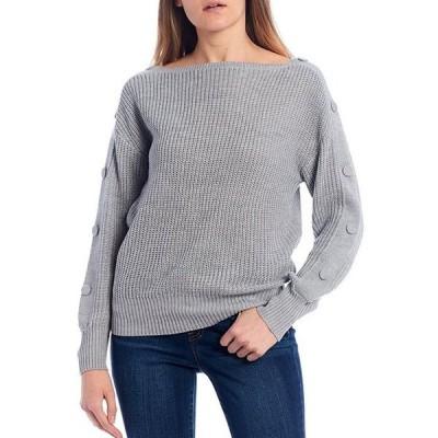 ジェシカシンプソン レディース パーカー・スウェット アウター Adley Solid Button Detail Sweater