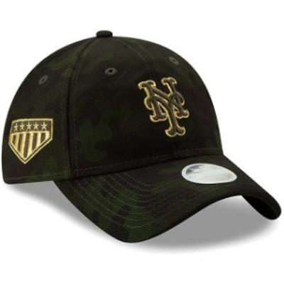New Era ニュー エラ スポーツ用品  New York Mets New Era Womens 2019 MLB Armed Forces Day 9TWENTY Adjustable Hat - Camo