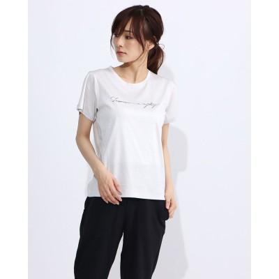 ダンスキン DANSKIN レディース フィットネス 半袖Tシャツ PRINT TEE DC70306 (グレー)