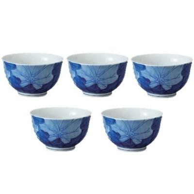 煎茶碗 有田焼 濃葉彩反仙茶 5客揃 千茶碗 湯呑み茶碗 日本製