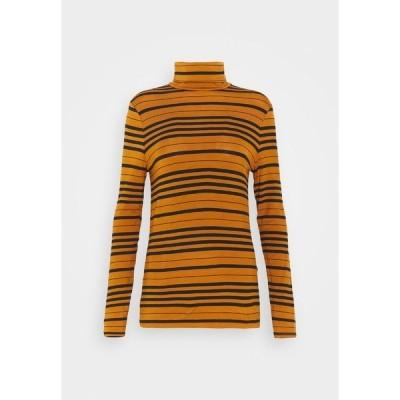 エスプリ カットソー レディース トップス Long sleeved top - rust brown
