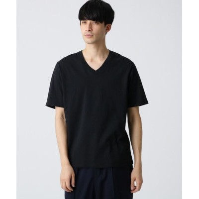 DRESSTERIOR/ドレステリア 天竺オーガニックコットン(綿)VネックTシャツ ブラック(019) 90(S)
