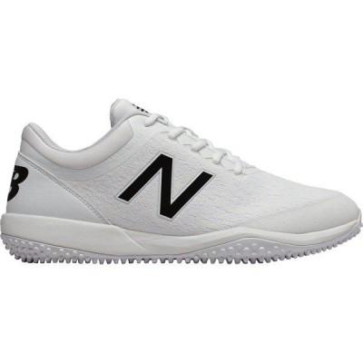 ニューバランス シューズ メンズ 野球 New Balance Men's 4040 v5 Turf Baseball Cleats White/Black