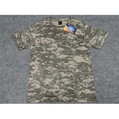 アウターシャツ 丸首Tシャツ グレーデジタル迷彩 UA65890-01ACU