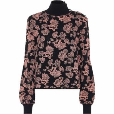 クロエ Chloe レディース ニット・セーター トップス floral jacquard sweater Navy