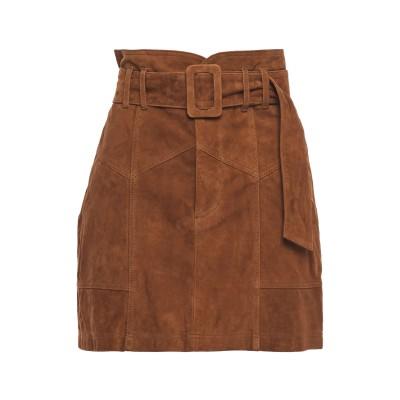 MARISSA WEBB ミニスカート ブラウン 4 山羊革 100% ミニスカート