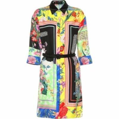 ヴェルサーチ Versace レディース ワンピース シャツワンピース ワンピース・ドレス Printed silk shirt dress Multicolor
