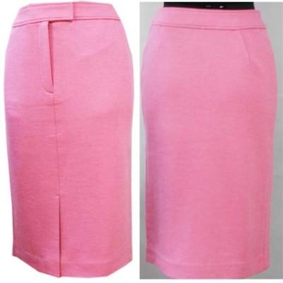 ジャージニット素材のセンタースリットスカート(ピンク)サイズS・Mあり
