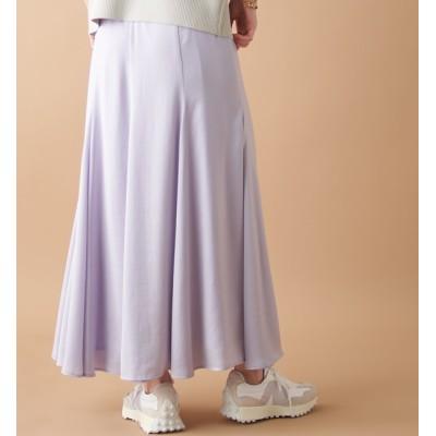 【アンディコール/un dix cors】 【ふわっと美しく広がる】エステルサテンドレープスカート