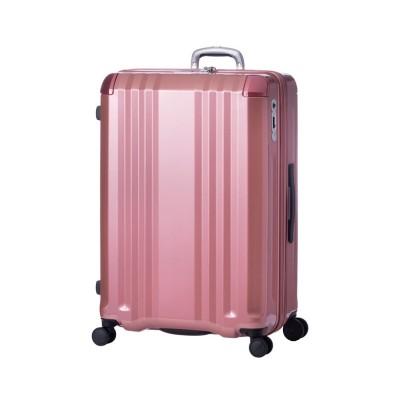 【カバンのセレクション】 アジアラゲージ デカかる スーツケース Lサイズ 94L/112L ストッパー付き 軽量 ali-008-28w ユニセックス ピンク ゴールド フリー Bag&Luggage SELECTION