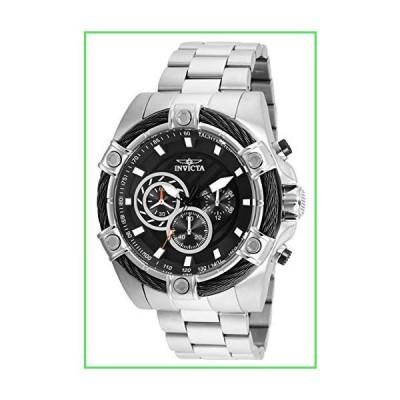 Invicta Men's Bolt 52mm Steel Bracelet & Case Quartz Black Dial Analog Watch 25512