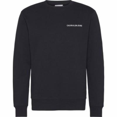カルバンクライン Calvin Klein Jeans メンズ スウェット・トレーナー トップス Institutional Back Logo Sweatshirt CK Black
