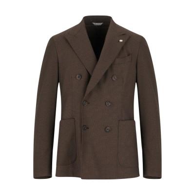 マニュエル リッツ MANUEL RITZ テーラードジャケット キャメル 48 ポリエステル 64% / レーヨン 34% / ポリウレタン 2%