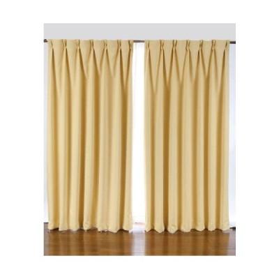 1級遮光カーテン 2枚入り イエロー巾100X丈90