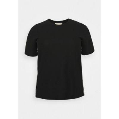 マイケルコース レディース Tシャツ トップス LOGO TAPE - Basic T-shirt - black black