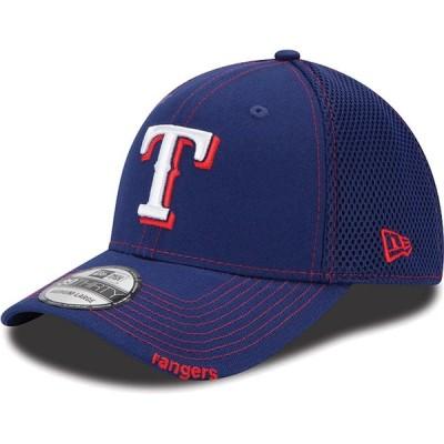 """ニューエラ メンズ キャップ """"Texas Rangers"""" New Era Neo 39THIRTY Flex Hat - Royal"""