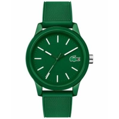 ラコステ メンズ 腕時計 アクセサリー Men's 12.12 Green Silicone Strap Watch 42mm No Color