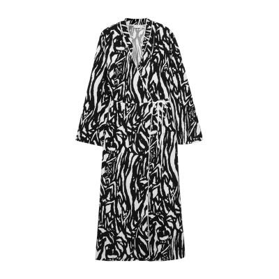 RIXO 7分丈ワンピース・ドレス ブラック XS レーヨン 100% 7分丈ワンピース・ドレス