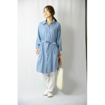 【ゆうパケット発送】【きちんと見え&好印象】着回し力抜群のシャツワンピース 40代 50代 60代 70代 ファッション ミセスファッション