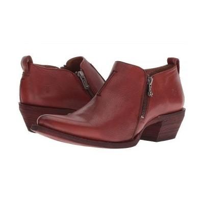 Frye フライ レディース 女性用 シューズ 靴 ブーツ アンクルブーツ ショート Sacha Zip Shootie - Red Clay Soft Full Grain