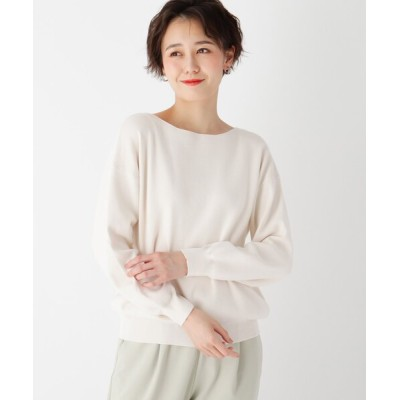 OPAQUE.CLIP / 【エマール検証済】Lux organic cotton ボートネックニット【WEB限定サイズ】 WOMEN トップス > ニット/セーター