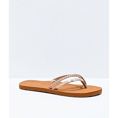 ボルコム VOLCOM レディース サンダル・ミュール シューズ・靴 Volcom Thrills II Rose Gold Thong Sandals Pink