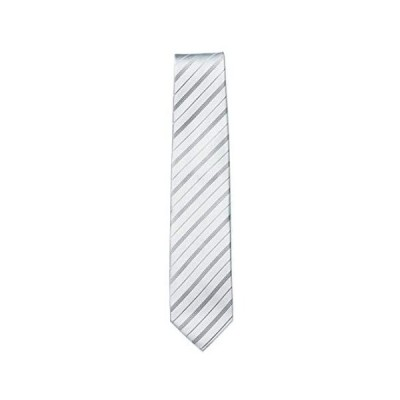 モーニング用ネクタイB Y&TAILOR オリジナル ブランド 2色カラー おしゃれ 結婚式 ブラック シルバー (シルバー 全長148cm)