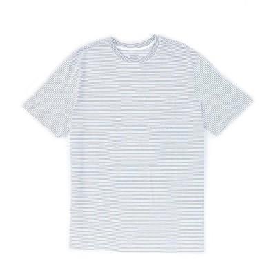 ラウンドトゥリーアンドヨーク メンズ シャツ トップス Soft Washed Short-Sleeve Striped Pocket Crew Neck Tee