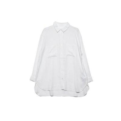 ジーラ GeeRA リネン風CPOシャツ (オフホワイト)