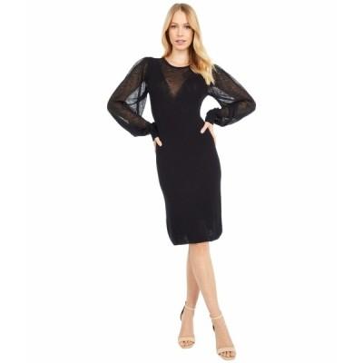 シーバイクロエ ワンピース トップス レディース V-Neck Long Sleeve Knit Dress Black