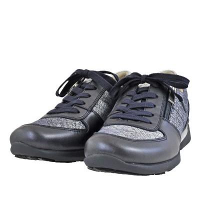 レディース 靴 カジュアルシューズ アシックス ペダラ 日本製 ファスナー付き 2E 送料無料 ミッドナイト/ディープオーシャン(ネイビーコンビ) WP255S-402