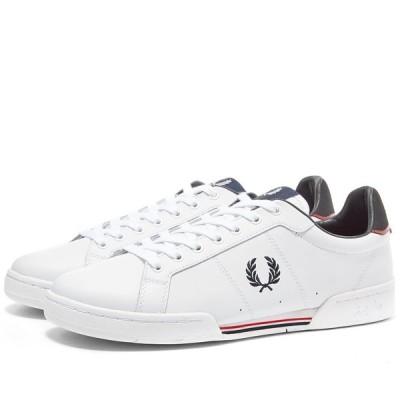 フレッドペリー Fred Perry Authentic メンズ スニーカー シューズ・靴 b7222 leather sneaker White
