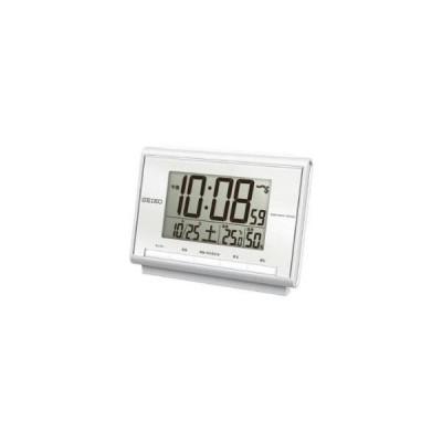 セイコー SQ698S 電波目覚まし時計 温湿度計付き デジタル