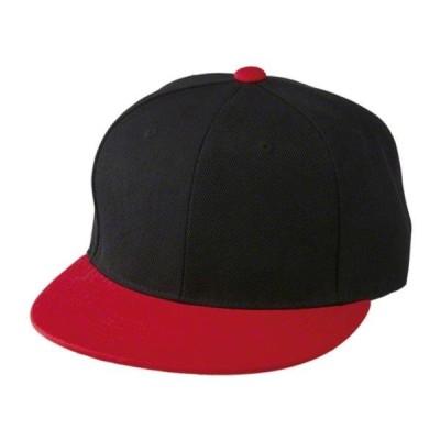キャップ 帽子 CAP 966401-2050-F フラットバイザースナップバックCAP ブラック/レッド  (UNA)(QCB02)