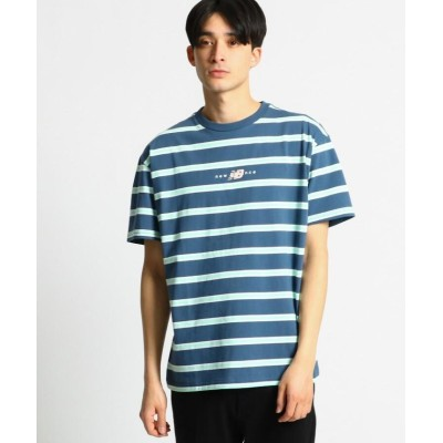 【オペークドットクリップ】 new balance ストライプTシャツ メンズ ディープネイビー 02(M) OPAQUE.CLIP
