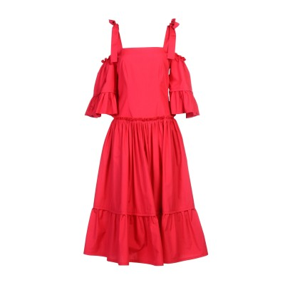 アルベルタ フェレッティ ALBERTA FERRETTI 7分丈ワンピース・ドレス フューシャ 38 100% コットン 7分丈ワンピース・ドレス