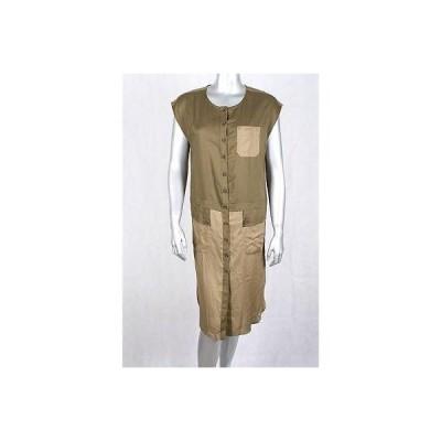 メイド/アパレル インク ドレス ワンピース フォーマル Made Med グリーン カラー Blocked 半袖 Buttoned ドレス サイズ S 79LAFO