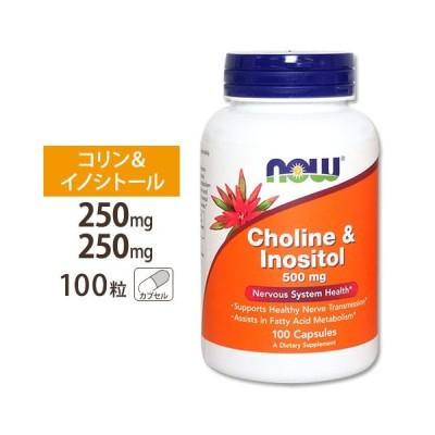 コリン&イノシトール 500mg 100粒 NOW NOW Foods ナウフーズ