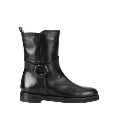LEONARDO PRINCIPI ショートブーツ ブラック 35 牛革(ブル) 100% ショートブーツ