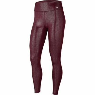 ナイキ Nike レディース フィットネス・トレーニング スパッツ・レギンス ボトムス・パンツ One 7/8 Sparkle Tights Dark Beetroot/White