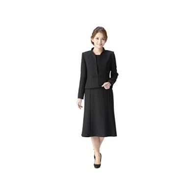 (マーガレット)marguerite ブラックフォーマル レディース 喪服 礼服 前開きワンピース アンサンブル m461 (ブラック 23号)