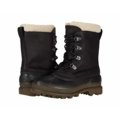 SOREL ソレル メンズ 男性用 シューズ 靴 ブーツ スノーブーツ Caribou(TM) Stack Waterproof Black【送料無料】