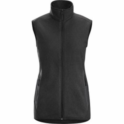 (取寄)アークテリクス レディース コバート フリース ベスト Arc'teryx Women Covert Fleece Vest Black Heather