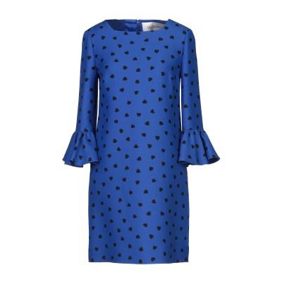 ヴァレンティノ VALENTINO ミニワンピース&ドレス ブルー 42 バージンウール 65% / シルク 35% ミニワンピース&ドレス